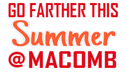 Macomb community college white summer logo2018