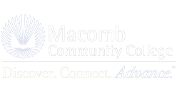 Macomb community college white mcc logo